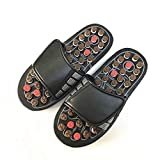 CLORIS Foot Massagers Acupressure Massage Slippers, Powerful Natural Foot Massage Shoes Acupoint Massage Ball Slippers Shoes for Men Women (XL-28.2CM/11.1 in(Men Size 10-11+, Women Size 11+)