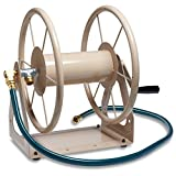 Liberty Garden 703-1 Multi-Purpose Steel Wall and Floor Mount Garden Hose Reel, Holds 200-Feet of 5/8-Inch Hose - Tan