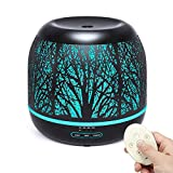 Bligli 500ml Essential Oil Diffuser Humidifiers Remote Control Aromatherapy Diffusers Room Decor Running 10 Hours with 7 Color LED Lights, Water-less Auto Shut-Off & 4 Time Modes
