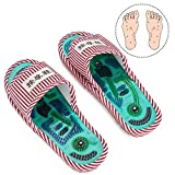 Acupressure Massage Slippers, Magnetic Therapy Massage Shoes Massage Slippers Health Care Blood Activation Foot Relaxation Massage Shoes for Men and Women(Female)