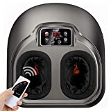 Arealer Shiatsu Foot Massager Machine with Remote Control - Deep Kneading Therapy with Soothing Infrared Heat and Air Compression Relieve Pains from Plantar Fasciitis and Tired Feet