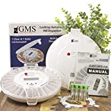 GMS 28 Day Automatic Pill Dispenser - 2Trays - Clear Lid w/ 6 Daily Alarms with 2 Trays, 2 Keys 2 Sets of Dosage Rings