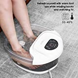 Foot Spa/Bath Soaker with Heat Bubbles Vibration and Massage Pedicure Motorized Massager Professional Home Tired Feet Stress Relief