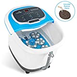 LiveFine Foot Spa Massager - Heated Bath, Automatic Massage Rollers, Rain Shower, Pumice Stone