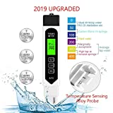 Seakcoik TDS Meter Digital Water Tester, Accurate Professional 4-in-1 TDS, Temperature and EC Meter, 0-9990ppm, Ideal Water Test Meter for Drinking Water, Aquariums (Free CR2032 Battery)