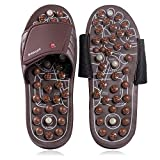 BYRIVER Acupressure Foot Massager Mindinsole Jade Stone Indoor Massage Slippers Shoes Reflexology Sandals for Men Women(S)