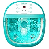 Foot Bath Massager with Heat - Foot Spa Machine Feet Soaking Tub Features Vibration, Spa Roller Massage Modes, 6 Pressure Node Rollers Stress Relieve Fatigue & Tens, Tired Feet Foot Massager with Heat