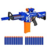 Best Choice Products Kids Soft Foam Semi-Automatic Dart Blaster Shooter Toy Gun w/ Load Cartridge, Sight Attachment, Long Distance Range, 20 Darts - Multicolor