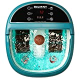 Foot Bath with Heat, Foot Massager Machine Soaking Tub Features Vibration, Spa Roller Pedicure Massage Modes for Tired Feet 6 Pressure Node Rollers Stress Relieve Fatigue & Tens - Christmas Gift Idea