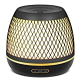 InnoGear 2019 Premium 500ml Aromatherapy Essential Oil Diffuser with Iron Cover Ultrasonic Diffuser Classic Stlye Cool Mist Humidifier with 7 Colorful Night light for Home Bedroom Baby Room Yoga Spa
