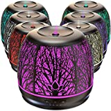 Best Rated Diffusers for Essential Oils, Premium Iron Aromatherapy Diffuser with Large 500mL Water Tank for Home, Office, Kitchen, Baby Room Air Oil Ultrasonic Humidifier with 7 Color LED Lights