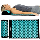 Vive Acupressure Mat - Bed of Nails Massage Pillow Pad - Full Body Massager Cushion for Back, Legs, Neck, Sciatica, Trigger Point Therapy, Stress & Pain Relief - Memory Foam for Chair, Bed & Travel