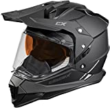 Castle X Mode Dual-Sport SV Snowmobile Helmet (LRG, Matte Black)