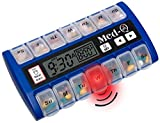 Med-Q Single Beep Reminder Automatic Medication Pill Box Dispenser Blue